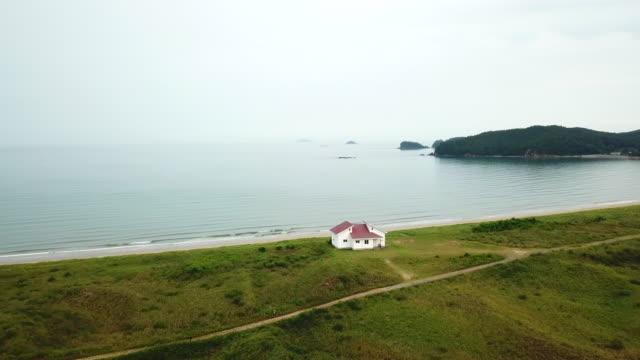 sinduri beach in sindu-ri coastal sand dune (korea natural monument no. 431) / taean-gun, chungcheongnam-do, south korea - hill stock videos & royalty-free footage