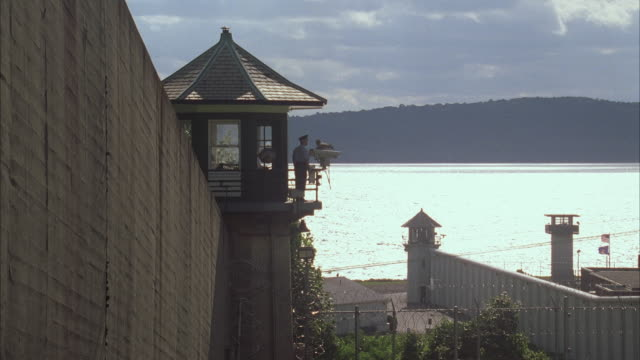 WS PAN ZI Sing Sing prison complex with guard on tower / Ossining, New York, USA