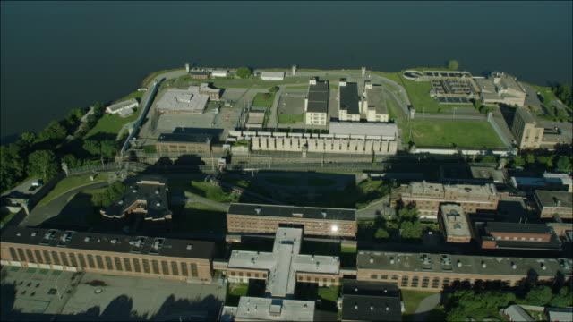 Sing Sing Prison New York 4k Aerial Bronx Flyover 2