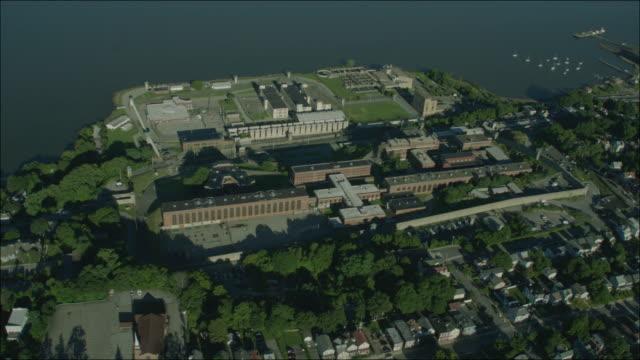 Sing Sing Prison New York 4k Aerial Day Circling Prison 2