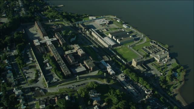 Sing Sing Prison New York 4k Aerial Day Circling Prison