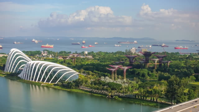 singapore bay area skyline - bay of water stock videos & royalty-free footage