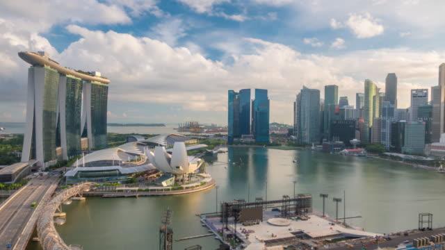 Singapore bay area skyline