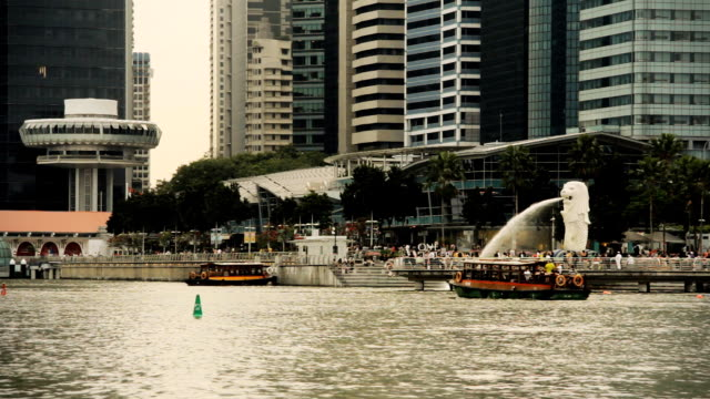 singapore bay - merlion fictional character stock videos and b-roll footage