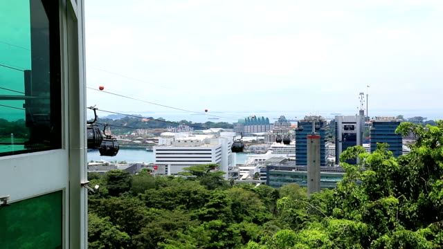singapore cable car, sentosa - tram stock videos & royalty-free footage