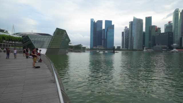 singapore city  is a country with a prosperous educational technology in south asia - marina bay sands stock videos and b-roll footage