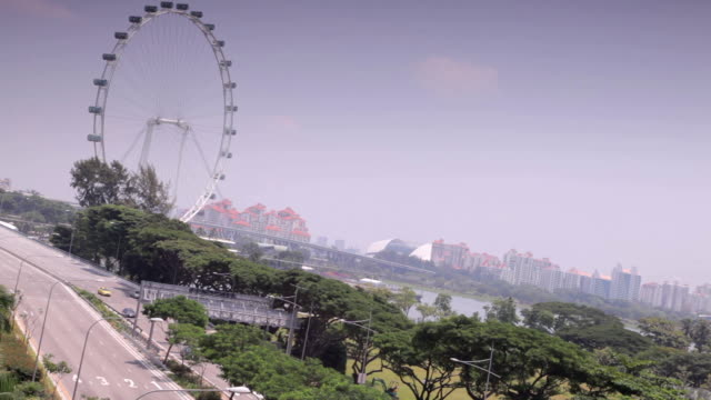 singapore city - singapore flyer stock videos and b-roll footage