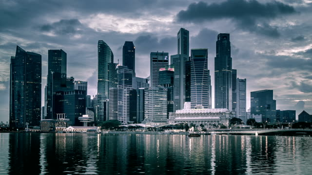 singapur beengt - international landmark stock-videos und b-roll-filmmaterial