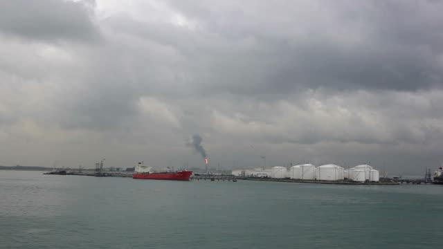 singapore fuel terminal. - motor oil stock videos & royalty-free footage
