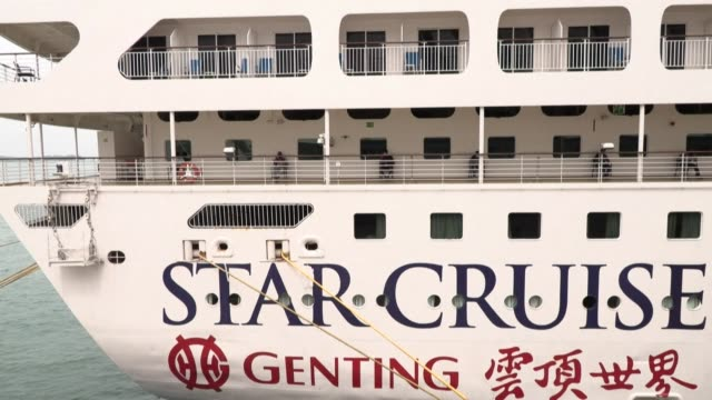 singapore is housing migrant workers who have recovered from the coronavirus on two cruise ships as part of efforts to reduce the spread of the virus... - report produced segment stock videos & royalty-free footage
