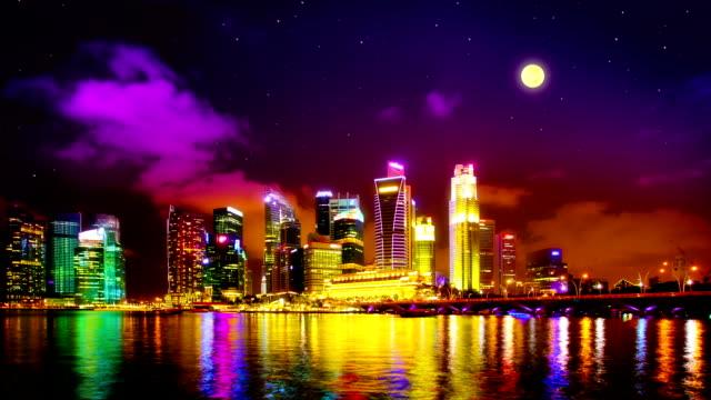 Singapore landmark view