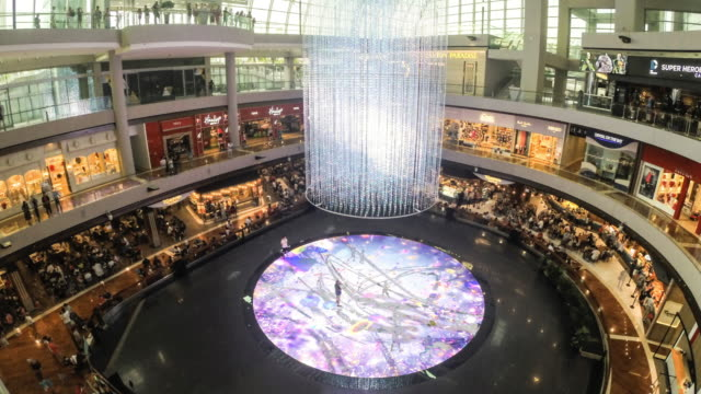 singapore, marina bay, the shoppes - shopping centre stock videos & royalty-free footage