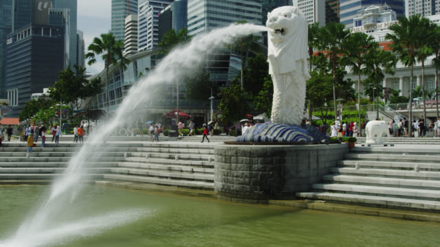 singapore merlion - merlion fictional character stock videos and b-roll footage