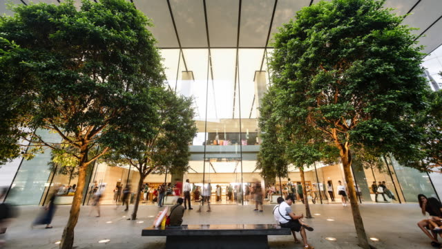 singapore, orchard road - apple store stock videos & royalty-free footage