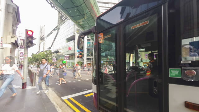 singapore, orchard road - singapore stock videos & royalty-free footage