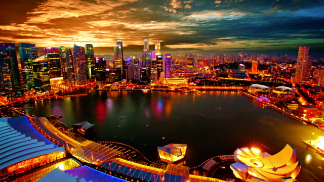 singapore panorama - singapore stock videos & royalty-free footage