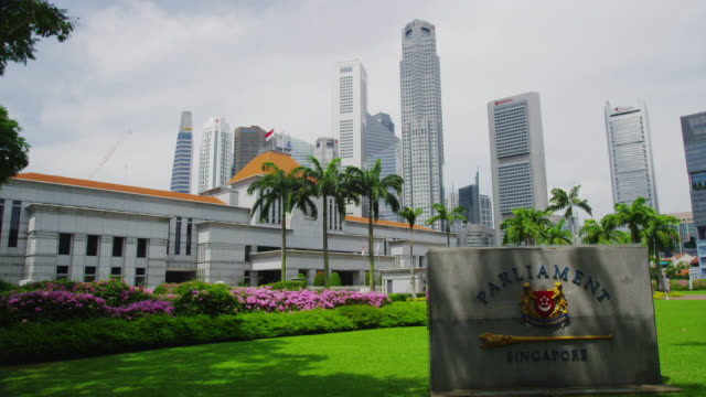 singapore parliament - parliament building stock-videos und b-roll-filmmaterial