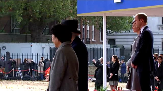 singapore president state visit to britain day 1 horseguards parade duke and mr tan go off to inspect the troops / close shots of william and kate /... - will.i.am stock videos & royalty-free footage