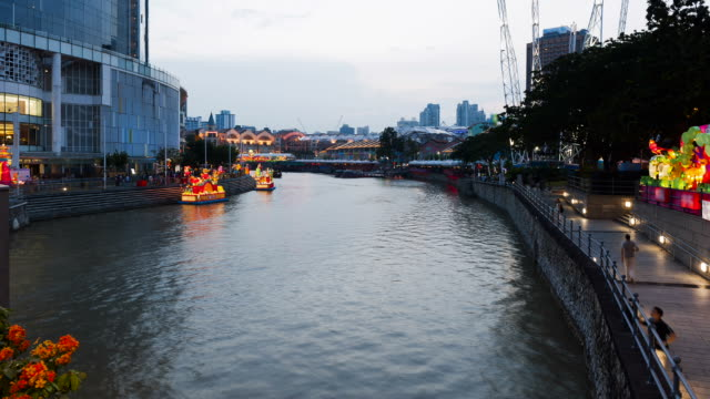 Singapore River at dusk