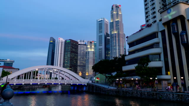 Singapore River in Dusk Hour