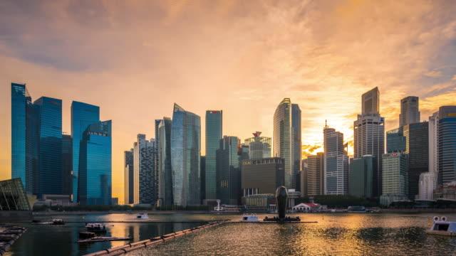 T/L WS ZO Singapore Skyline at Sunset / Singpaore
