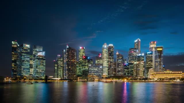 T/L WS ZO Singapore Skyline Day to Night Transition / Singapore