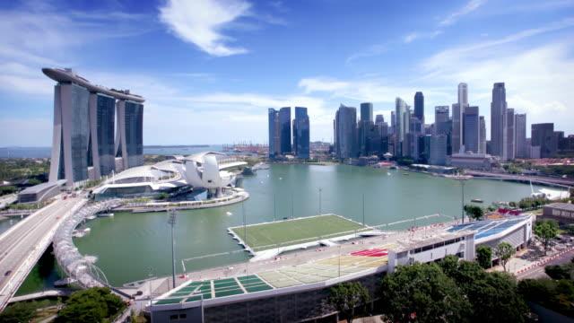 Singapur Skyline Timelapse