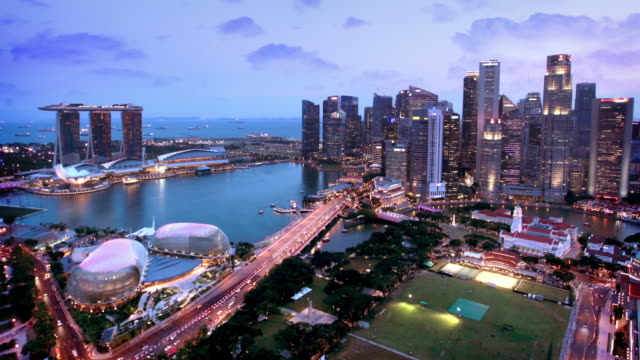 singapur skyline timelapse - republik singapur stock-videos und b-roll-filmmaterial