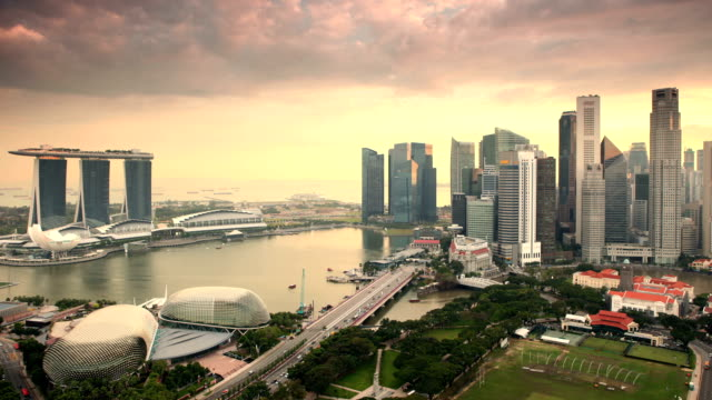 Singapur Sonnenuntergang Zeitraffer