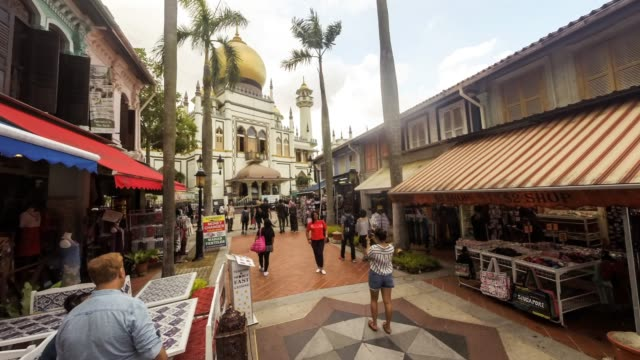 singapore, the masjid sultan, or sultan mosque - sultan mosque singapore stock videos and b-roll footage