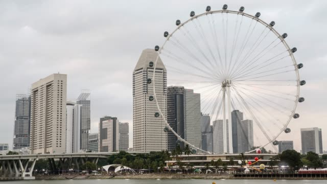 singapore, the singapore flyer observation wheel - big wheel stock videos & royalty-free footage