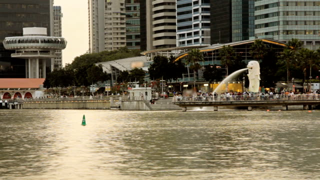 singapore trip - merlion fictional character stock videos and b-roll footage