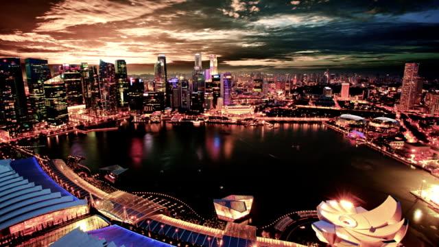 singapore - marina bay singapore stock videos and b-roll footage