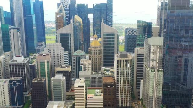 昼間のドローンの視点から見るシンガポール - シンガポール点の映像素材/bロール