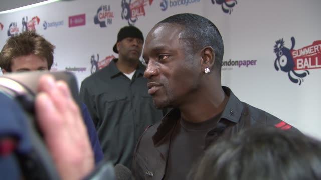 singer akon at the capital fm summer ball at london england. - akon singer stock videos & royalty-free footage