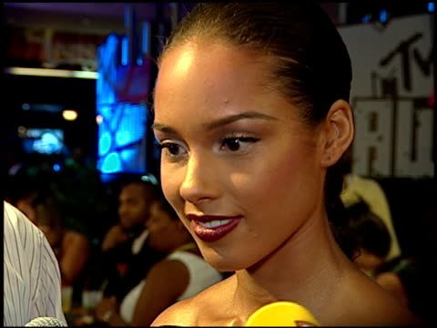 singer alicia keys on being excited about tonight feeling confident and ready to perform and about her new album at the 2007 mtv video music awards... - mtv stock videos & royalty-free footage