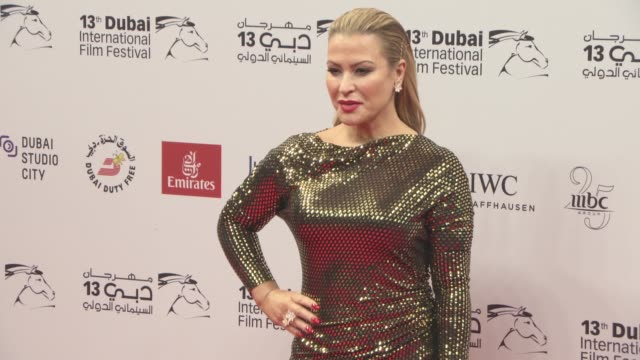 singer anastacia at 2016 dubai international film festival day 5 at madinat jumeirah on december 11 2016 in dubai united arab emirates - day 5 stock videos & royalty-free footage