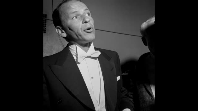 singer and actor frank sinatra attends the 27th academy awards at the rko pantages theatre on march 30, 1955 in los angeles, california. - frank sinatra stock videos & royalty-free footage