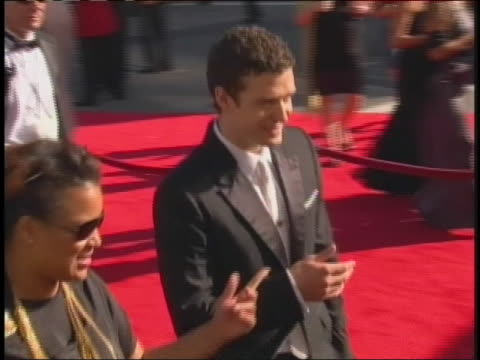 singer and actor justin timberlake arrives at the 2009 primetime emmy awards in los angeles. - justin timberlake stock videos & royalty-free footage