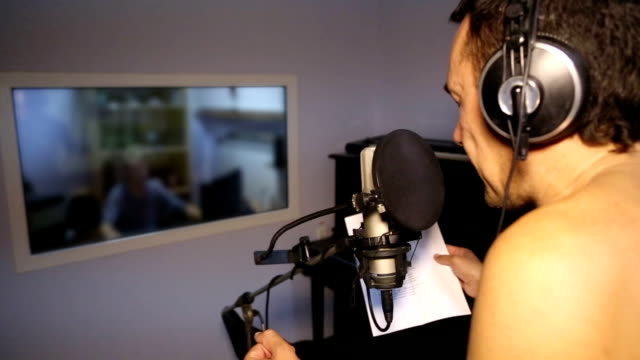 singer in the recording studio - 2013 stock videos and b-roll footage