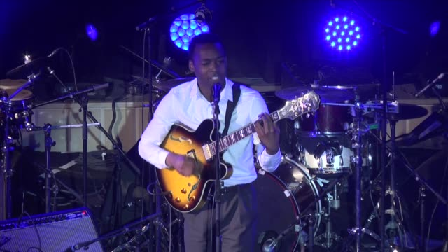 us singer jalen n'gonda and amadou mariam a musical duo from mali perform at stage during the opening of 13th carthage jazz festival in gammarth town... - carthage tunisia stock videos & royalty-free footage