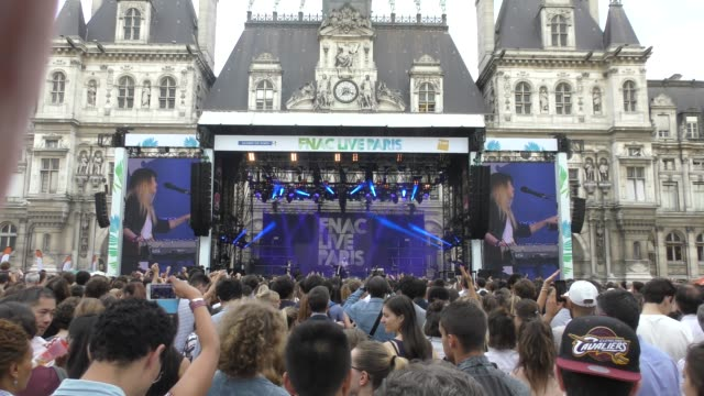singer jeanne added performs during fnac live festival - july 05 paris - live event stock videos & royalty-free footage