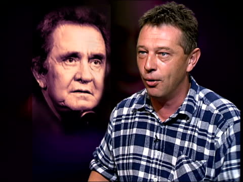 singer johnny cash dies itn london andy kershaw interviewed sot pays tribute to johnny cash - johnny cash stock videos & royalty-free footage