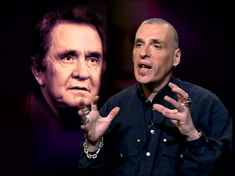 singer johnny cash dies itn london charles shaarmurray interviewed sot pays tribute to johnny cash - johnny cash stock videos & royalty-free footage