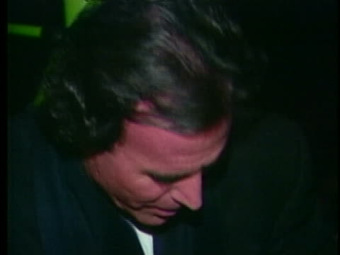 singer julio iglesias talks about his performances at radio city music hall. - music or celebrities or fashion or film industry or film premiere or youth culture or novelty item or vacations stock videos & royalty-free footage