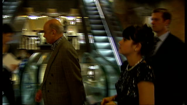 singer lilly allen opens harrods' sale * * bagpipe music heard during the following shots sot * * more of allen along thru store next al fayed / al... - pink singer stock videos and b-roll footage
