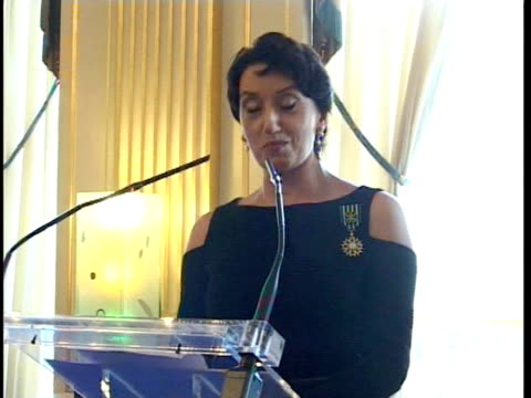 Singer Luz Casal receives The French«s Gold Medal of Arts Madrid Spain