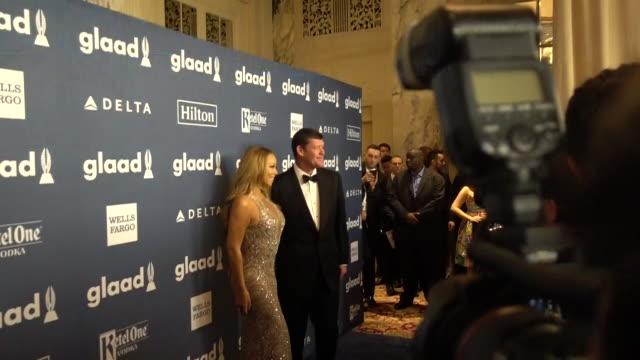 singer mariah carey and james packer attends the 27th annual glaad media awards at the waldorf=astoria on may 14 2016 in new york city - mariah carey stock-videos und b-roll-filmmaterial