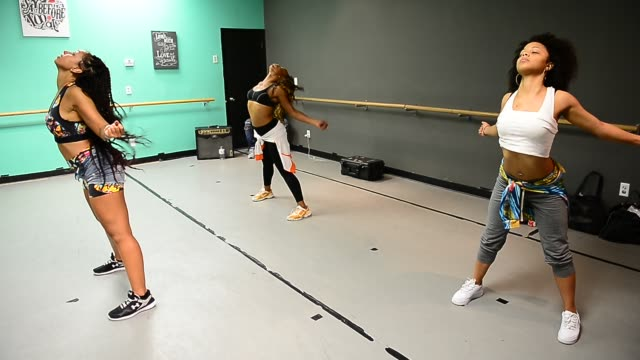RB singer Mya wearing a twopiece outfit by Perfect My Silhouette takes part in a private dance rehearsal at U4RIA Dance Studio in Celebrity Sightings...