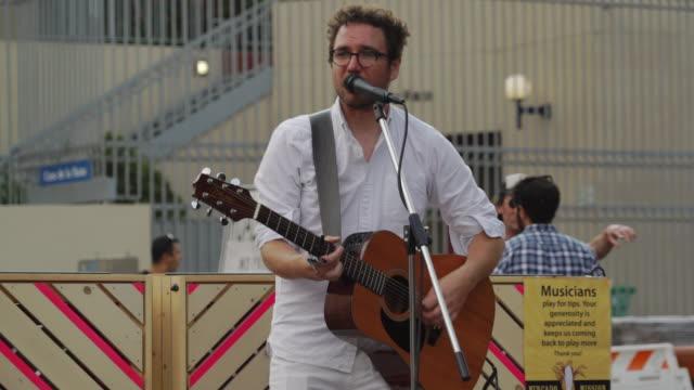 singer performs on street - san francisco, usa - singer stock videos & royalty-free footage